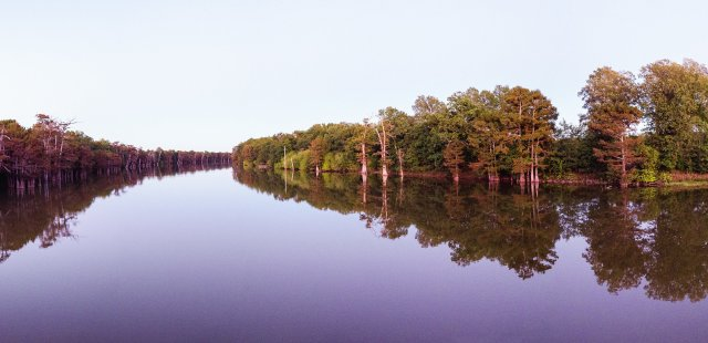 Lower Mississippi River panoramic