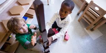 Education. Innovation. Boys Building Blocks