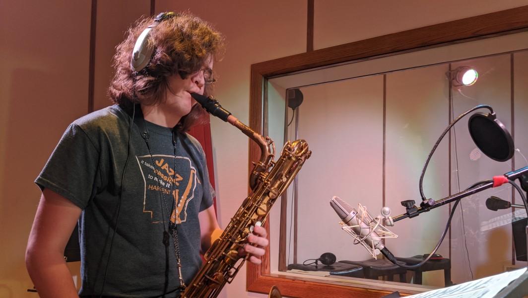 NWA Jazz Allstars Rehearsal saxophone
