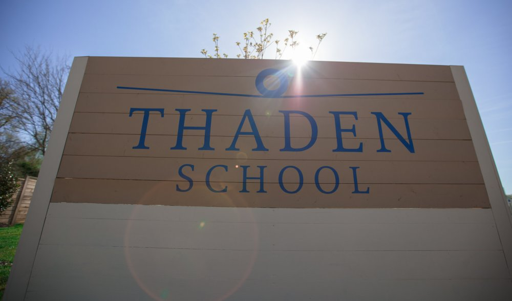 Thaden School sign