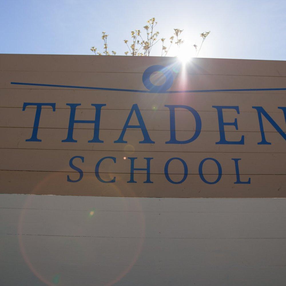 Thaden School sign