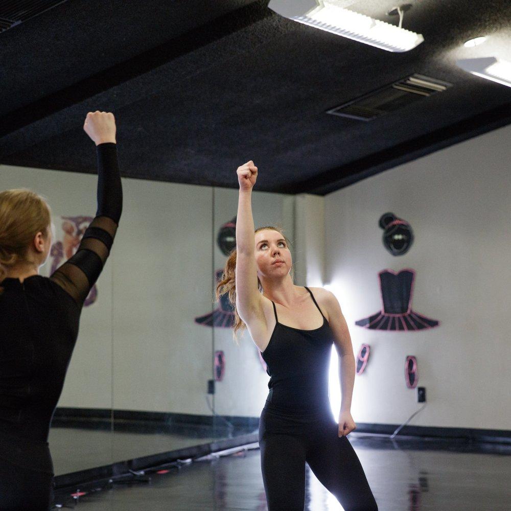 Arkansas Arts Academy. Student Brooklyn Herzig dance