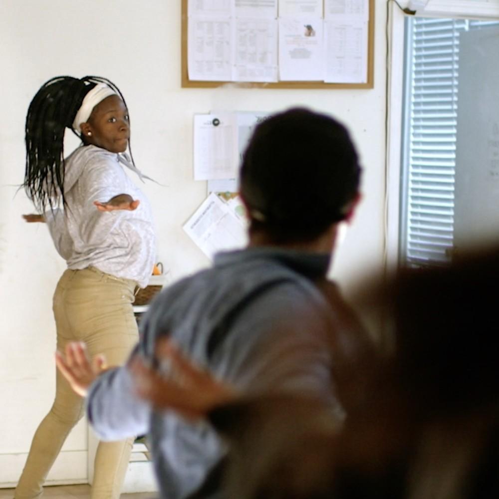 Griot Arts students dancing