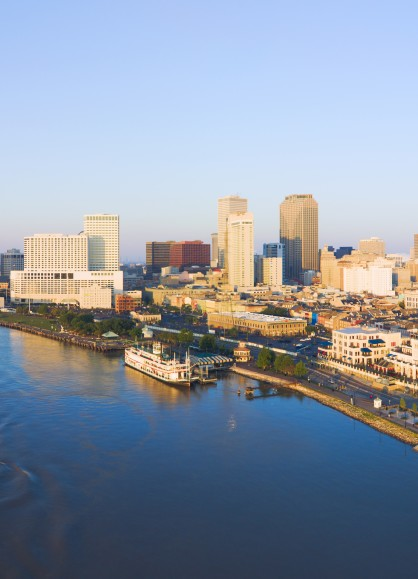 New Orleans and the Mississippi River